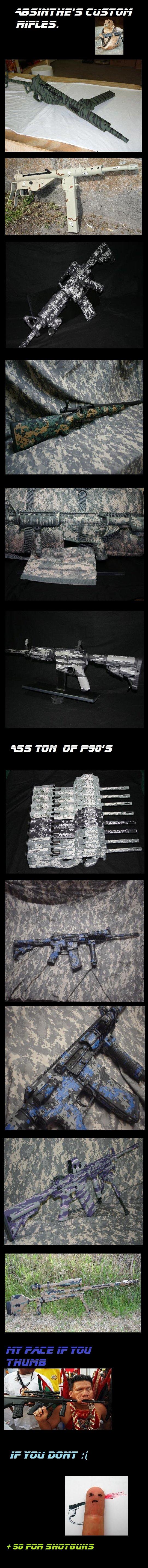 Custom Rifles Comp.. don't forget to thumb 50+ for custom shotguns.. Where's the funny? custom guns pist