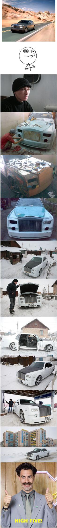DIY. Rolls Royce Phantom. Rolls-Royce Phantom by Ruslan Mukanov(Shahtinsk, Kazakhstan) Overall expenditures: $3 000.