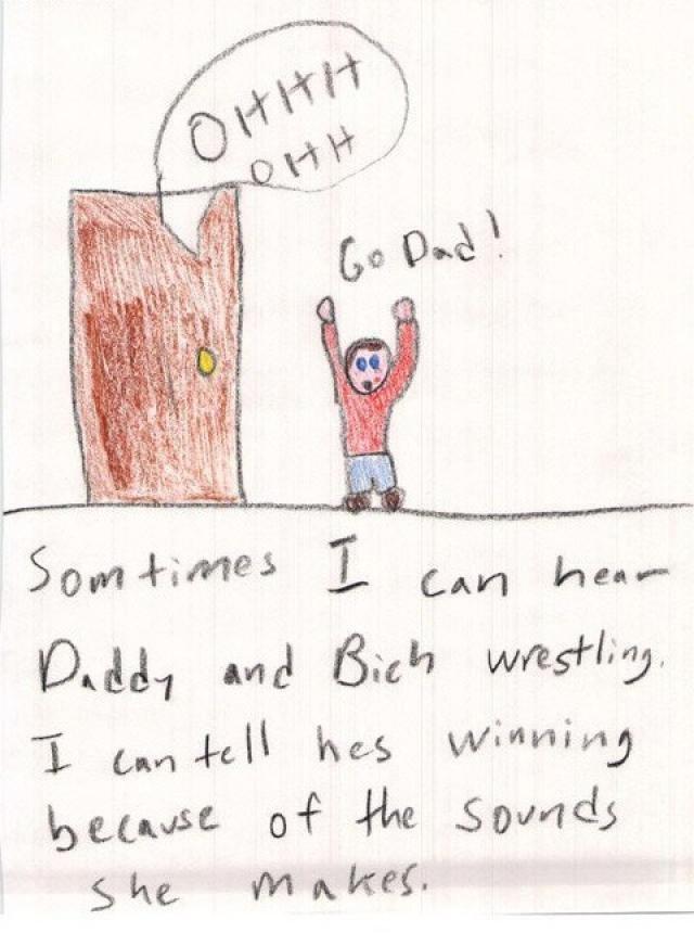 Daddy Wrestling. .. Repost.
