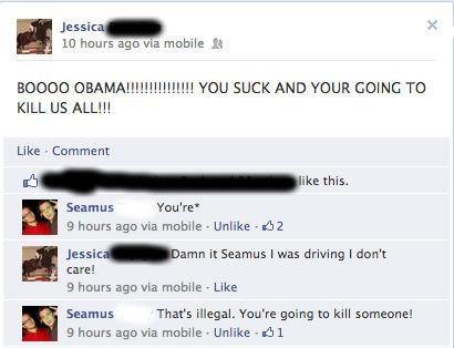 "Damn It Seamus!. facebook heh. 10 hours ago via mobile it Jessica"" KILL US ALL!!! Like - Comment Seamus Youre' 9 hours ago aria mobile - Unlike r #112 it Seamus"