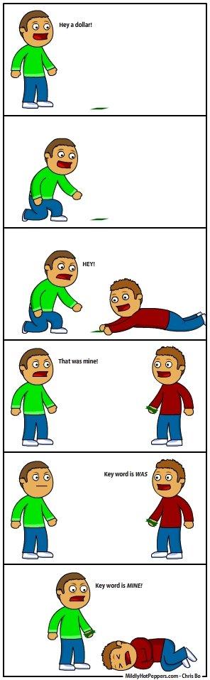 Damn him!. Not OC.