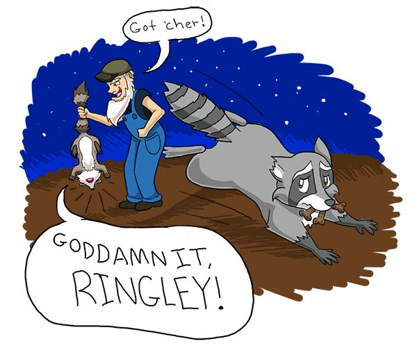 "Damnit Ringley. . ml? 'Milt 'ITNO: itll Kai we it Ucan .'. tin"" -aht art. cum. im sorry"