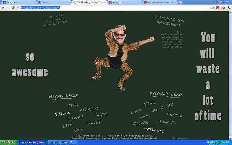 Dance time bitches (read desc). ENJOY! LINK : theuglydance.com/?v=squawjgzyv. G in lg start an BC) RAT is doing The U,,, I Adobe Photoshop CS,,, A 'pt' ' up 3:  dance now