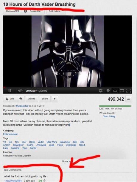 "Darth. . tta Hours at Darth Vader Breathing In as i we q Audi: -n Sham p 499, 342 H If you can wan iansane titteh arr: -I. Ir in hi: -re "" hour man an thy . ihq"