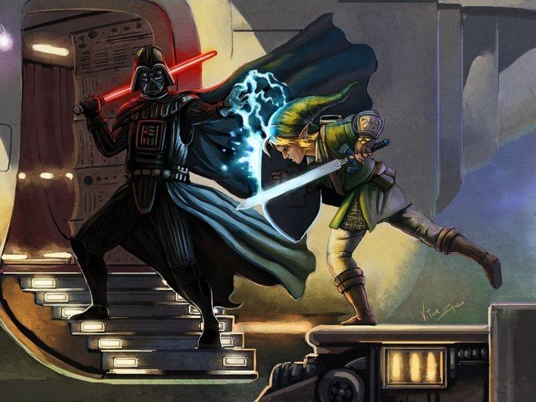 Darth Vader vs. Link