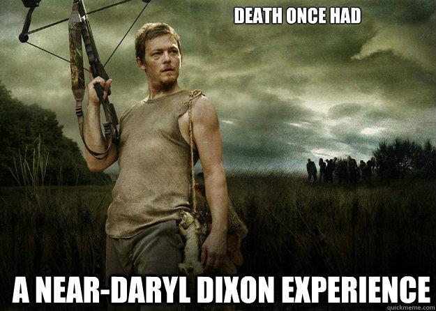 Daryl Dixon. yeah, can't wait for Season 4!. it nun: mrair 1.?