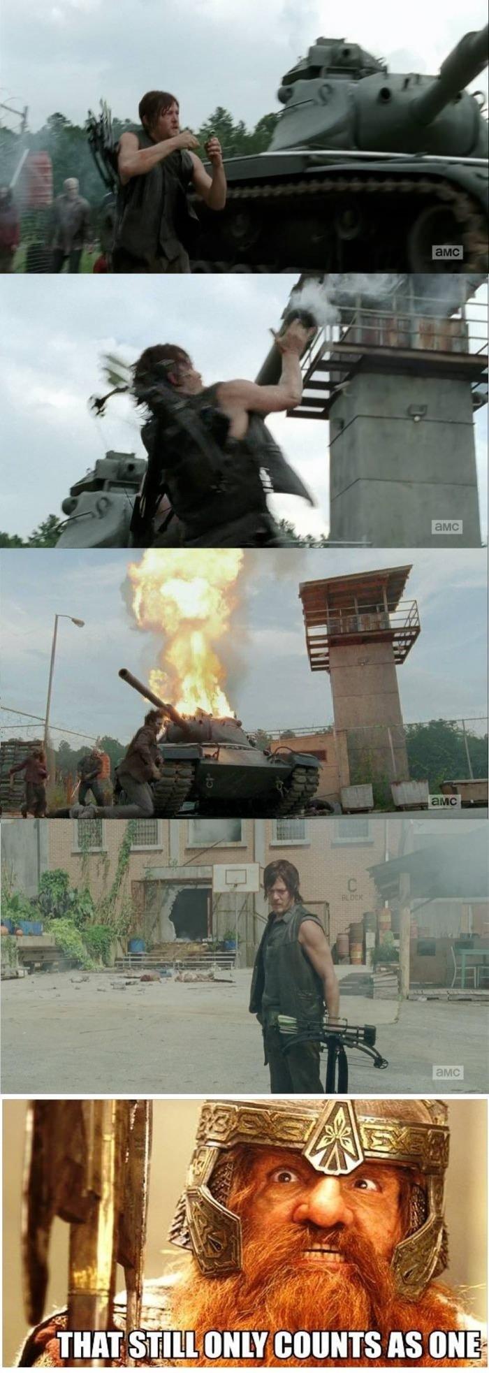 Daryl, the one man army. .. bitch please