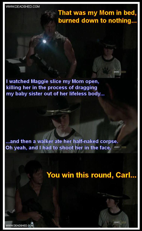 Daryl vs carl. .
