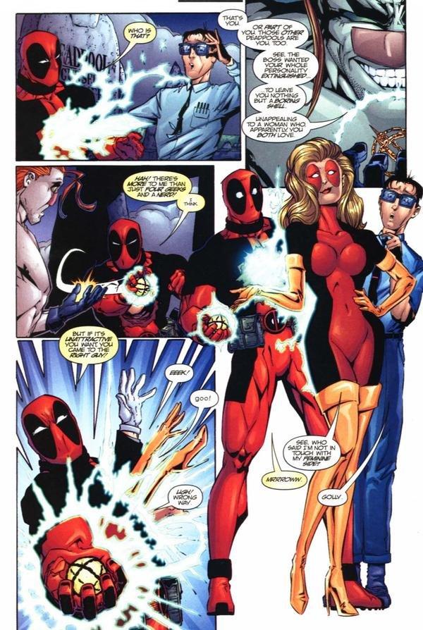 Deadpool's Feminine Side. Not as 'well endowed' as Lady Deadpool, but she's still a looker...