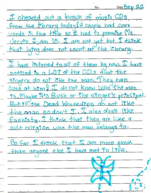 Dear Diary,. I also don't like fashists.. H Q: have 'Mal! op khum hr: nag, I but TAPE Bush at 'The E/ taest''? ttr: i' -'titlist; l. tinest Egan dar/ k 3 I I al punk Rock Diary Cute