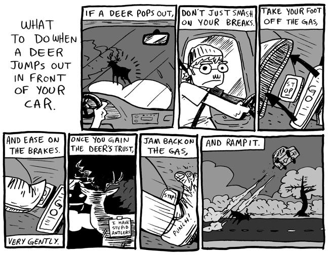 Deer. . itoi' i' hi ritles. and then this happens personal deer (hunting) incident Deer Cars