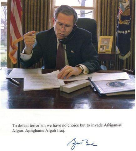Defeat Terrorism. . War Spelling President