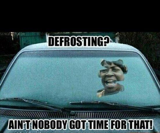 Defrosting?. .