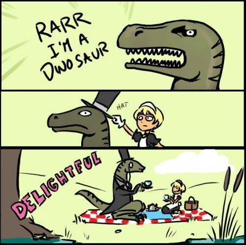 Delightful Dinosaur.. .. And the philosorapter was born!