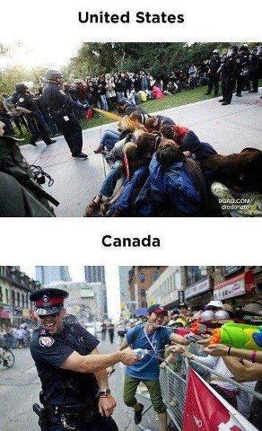 Dem Canadians. TQ. United States