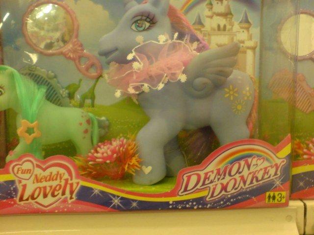 Demon Donkey. .. OH GOD KILL IT BEFORE IT LAYS EGGS!