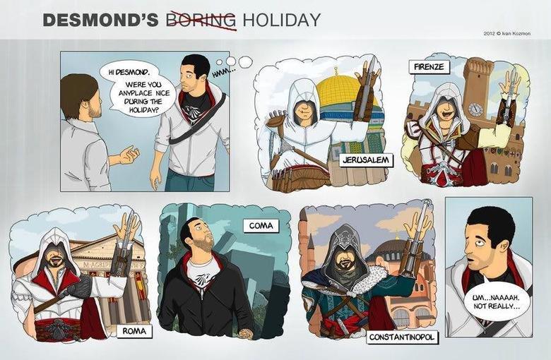 Desmonds Holiday. . DESMOND' S HOLIDAY' HEN NOE. The Island