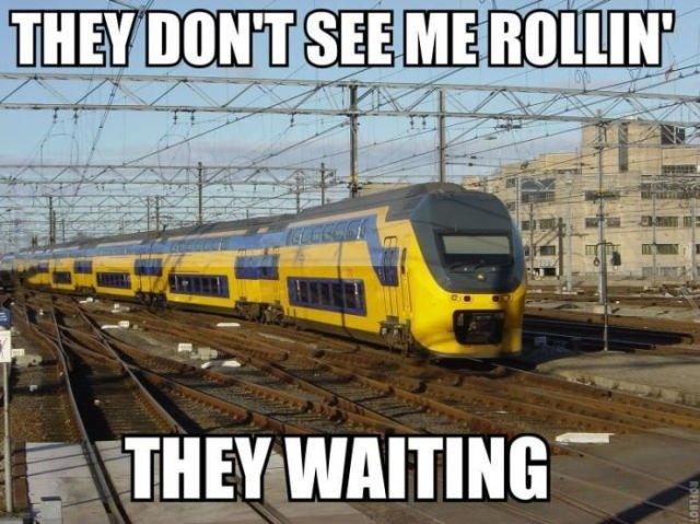 Deutsche Bahn - 5 Minuten Verspätung. .. You just pissed off a lot of Dutch people for saying that that train is Deutsche Bahn