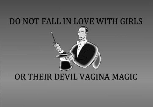 Devil magic. . OR THEIR DEVIL VAGINA MAGIC. good thing i'm bi then?
