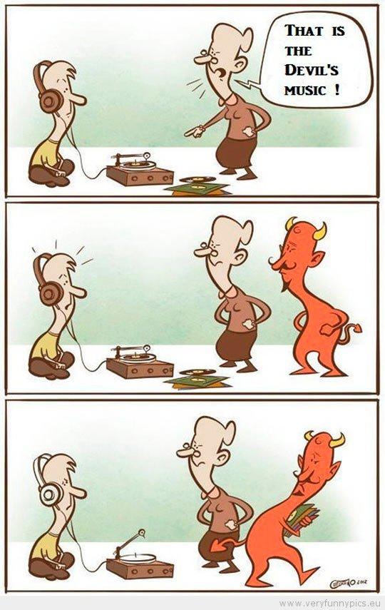Devil's music. .. MAGIC HEADPHONES