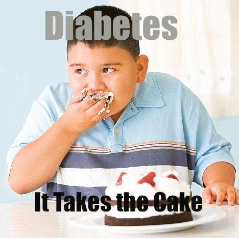 Diabetes. Children these days.... Cake shit nigga You large