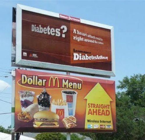 Diabetus straight ahead. .