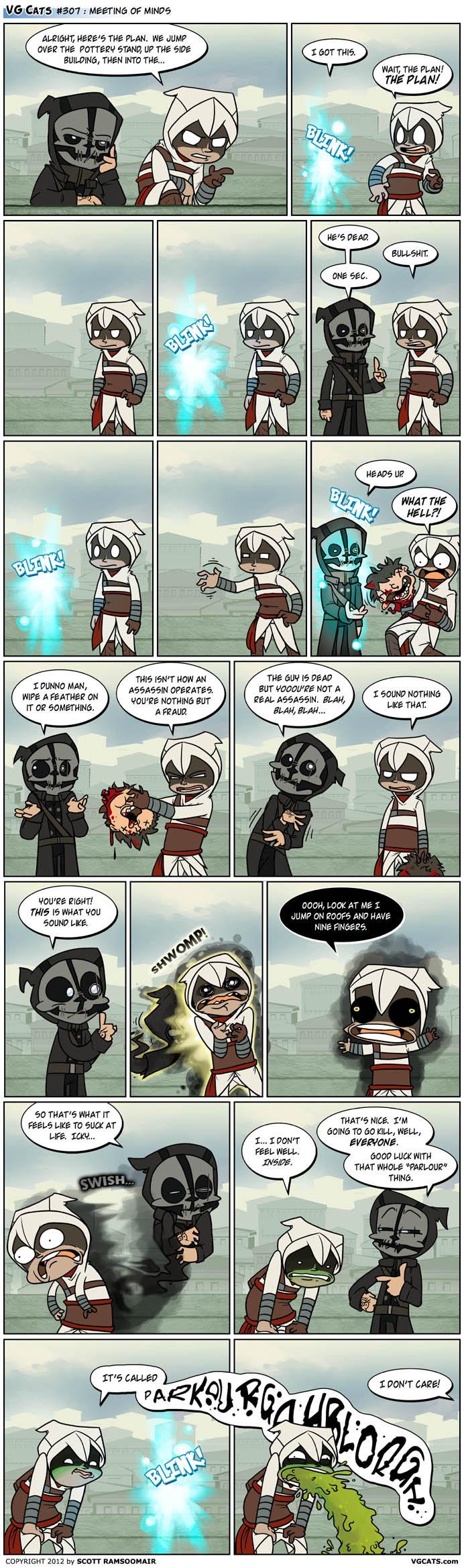 Dishonored Assassin. Source: VG Cats - www.vgcats.com/.. assassins are still badass.. badassassins