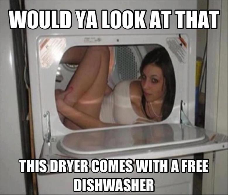 Dishwasher. Not mine. VA ( AT TIMI I we l} ITMES cxllml A FREE DISHWASHER. Turn it on