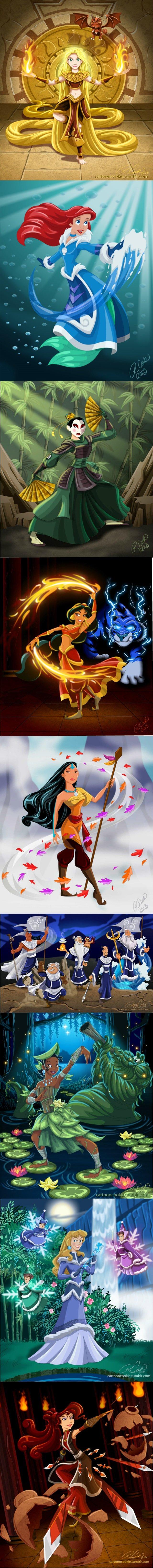 Disney Benders. .. rapunzel is the last hair bender.