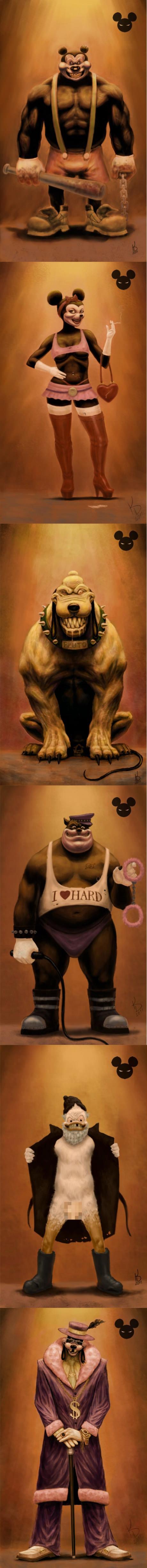 Disney Characters Reimagined. .. It's Goofizzle.