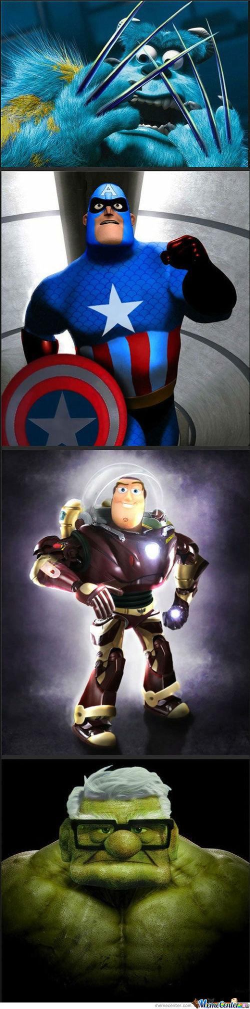Disney heros. yupp not mine.. ill just leave this here disnes heros