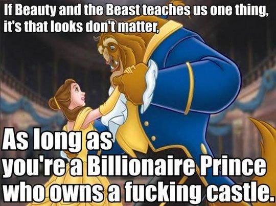"""Disney = reality. Hey. If Beauty and ttwtt Mast tti) """" [HIE thatta, It' s that thm' t miter, i' inital It -"""