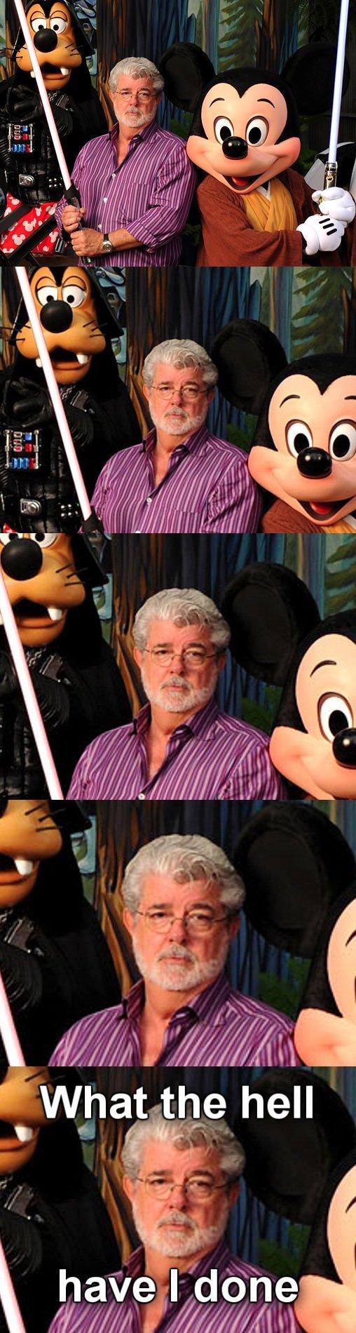 Disney. . iai, t,? hell. I just realized... Since Disney owns Starwars and Disney owns Disneyland... STAR WARS ROLLERCOASTER! YEAH!