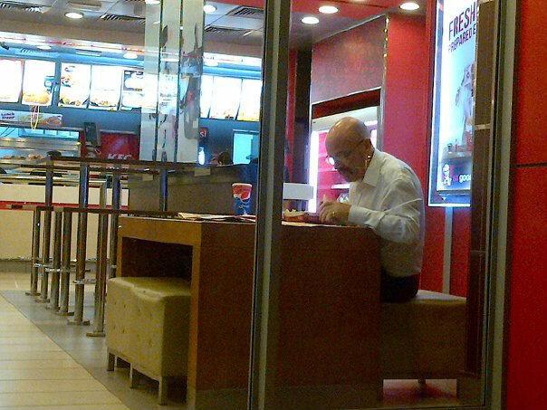 Disregard Los Pollos Hermanos. Acquire KFC. He is working for Kernel Sanders now... I think ya mean Colonel Sanders, chief.
