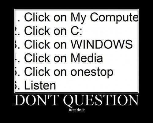 Do it. . Click on My Comput Click on C: Click 'halt] WINDOWS Li Click on Media Click on Listen