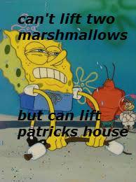 does spongebob. .. Please OP, everyone be 'mirin