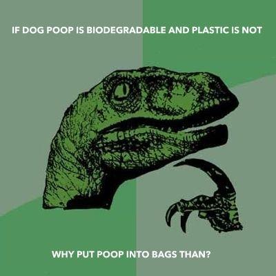 Dog Poop. .. to keep the poop fresh of course