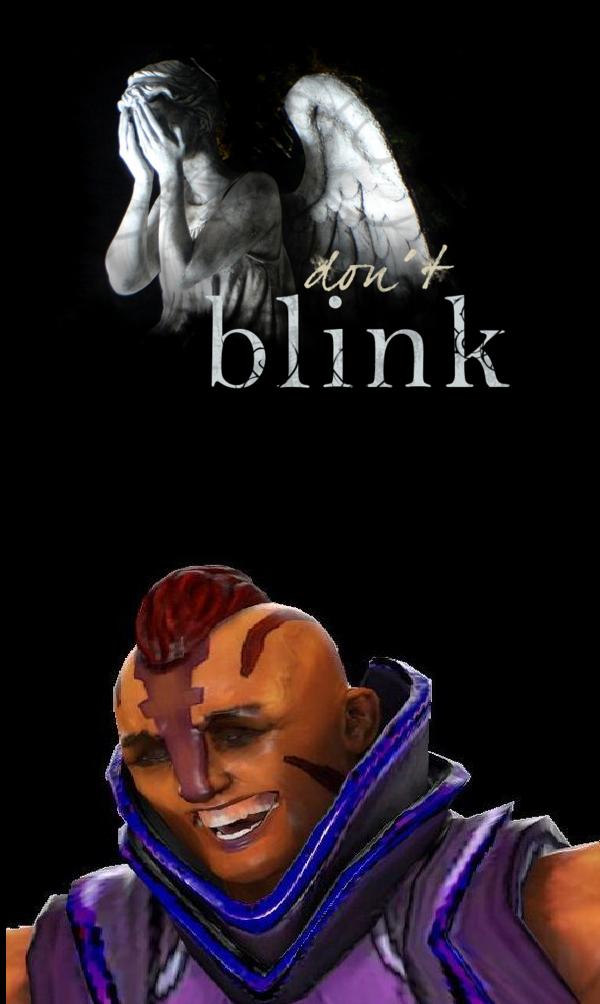 Don't blink. .