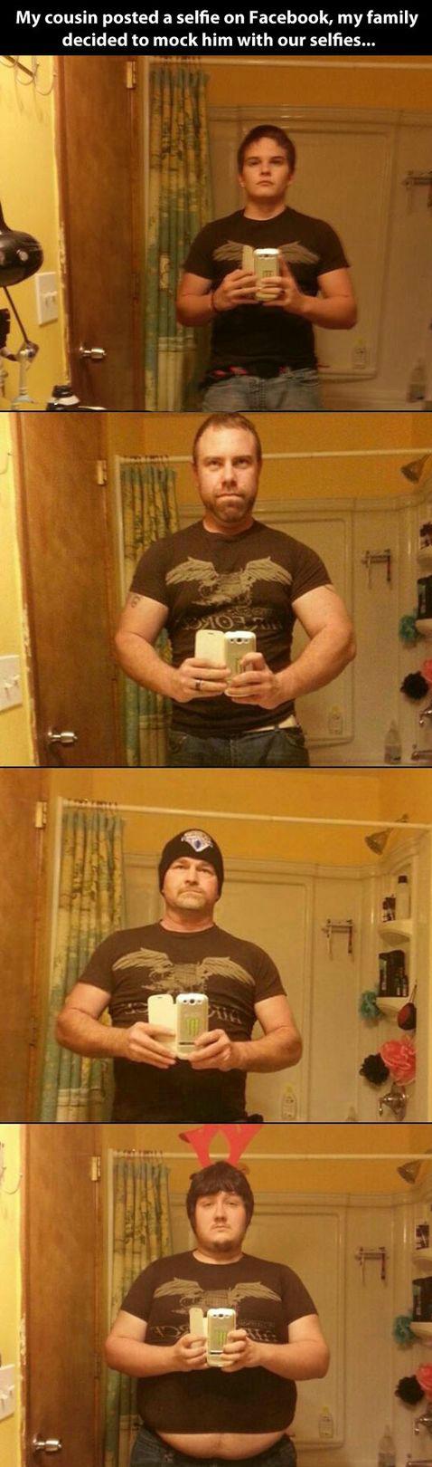 Don't do selfies, kids. .