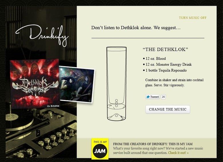 """Don't listen to Dethklok alone.. Don't listen to Dethklok alone. We suggest…. TURN y. Don' t listen to Dethklok alone. We suggest... THE DETHKLOK"""" 12 or Blood 1 dethklok drinkify"""