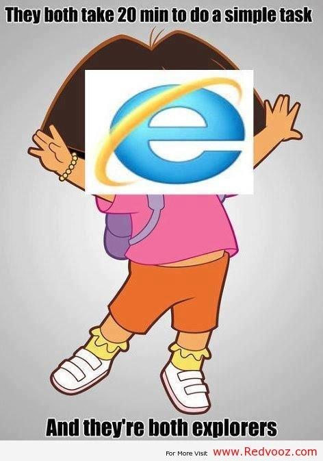 Dora the Explorer and Internet Explorer. Dora the Explorer and Internet Explorer. com