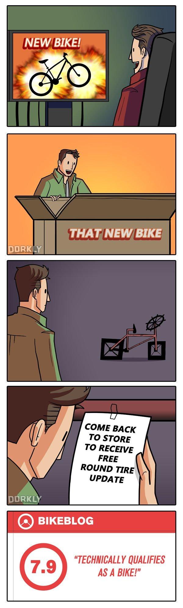 "Dorkly. Dorkly. NEW BIKE! Ily THAT NEW BIKE g QUALIFIES AS A BIKE!"". Dammit, EA"