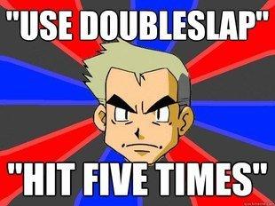 DoubleSlap. hangadingerdurgin.