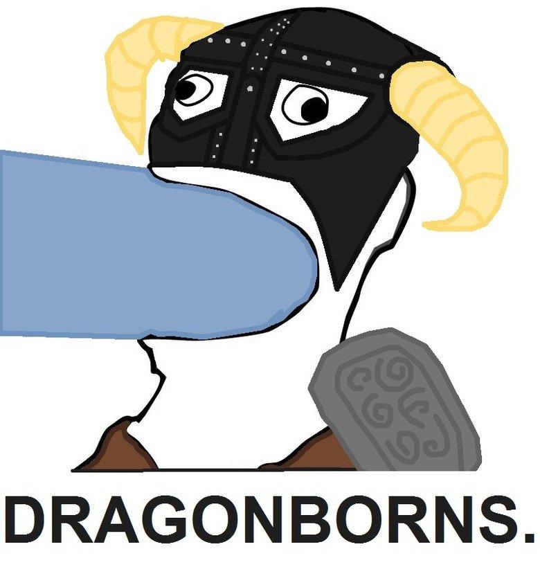 DRAGONBORNS.. OC by me so a thu'um is appreciated and don't forget to comment.. the Elder Scrolls five TES skyrim arrow in Knee fus ro dah gentlemen Gentle Men