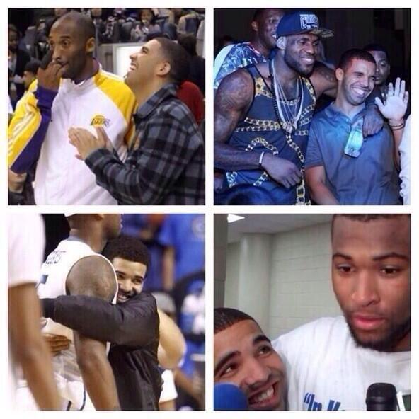 Drake looks like the proudest girlfriend. no new friends..