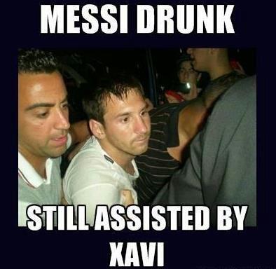 Drunk Messi. lol.