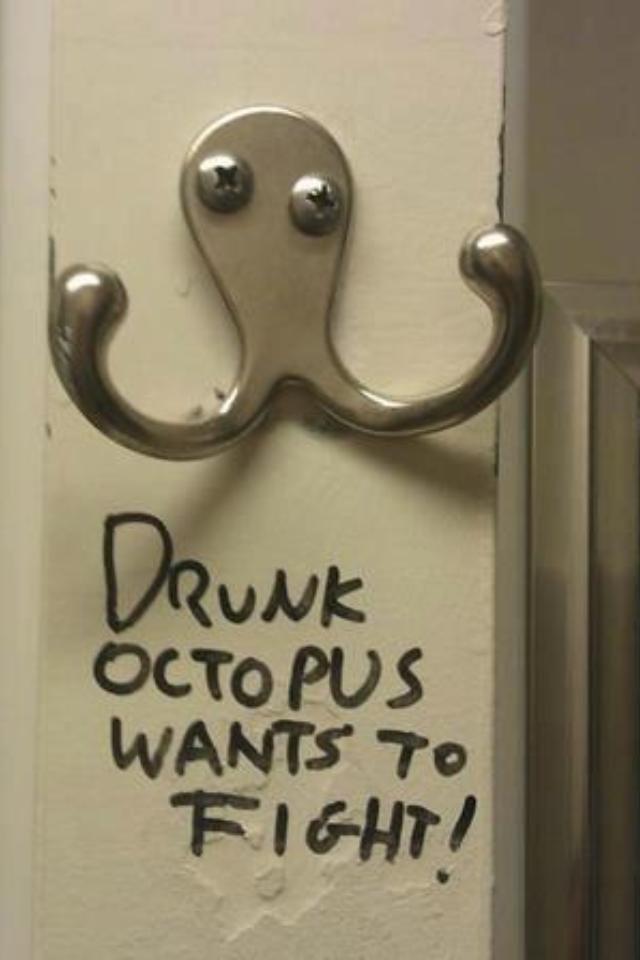 drunk octopus. .