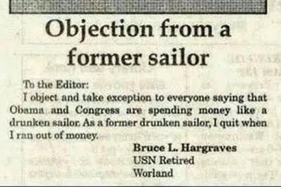 """Drunk. . former sailor Jootix. DI. -nun: nu! Cowman In landing an HI: I Blan"""" Warent. Hooyah Navy."""