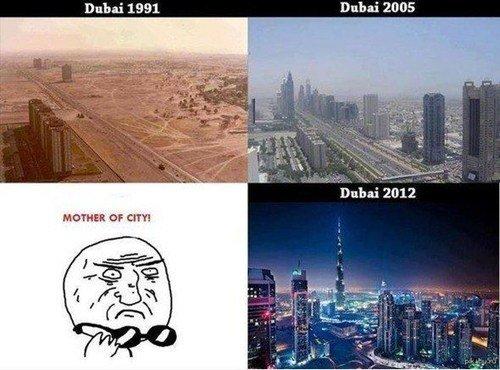 Dubai evolves to.... war greymon. Dubai 1991 Dubai HIDE. <- Dubai in 2030?