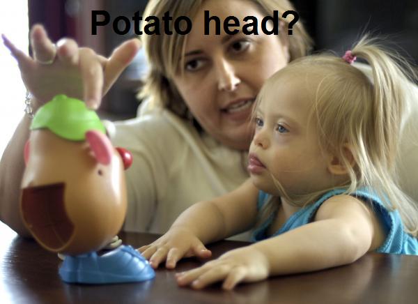 Duble potato. Mr. and Ms Potato.